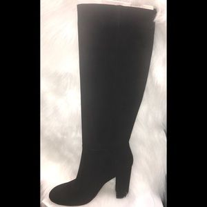 Caprice Black Suede Boots